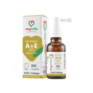Witaminy A+E Forte 800 mcg + 12 mg Krople 30 ml