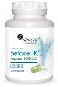 Betaine HCL Pepsine Aliness, 650/150 mg, 100 k